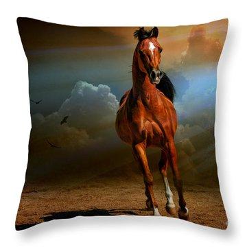 Badawi Throw Pillow by Karen Slagle