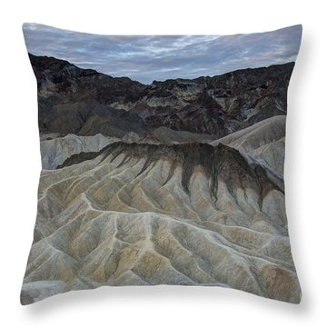 Badlands At Sunrise. Death Valley Throw Pillow