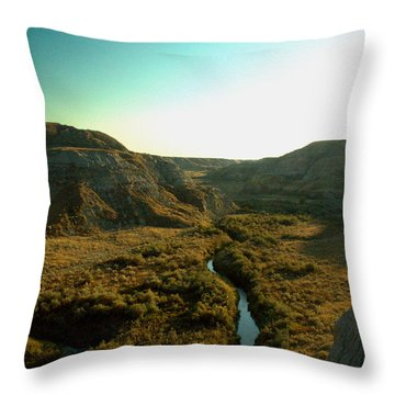 Badlands Coulee Throw Pillow