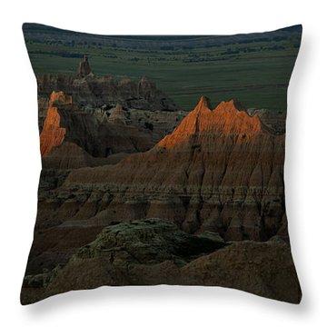 Badlands First Light Throw Pillow