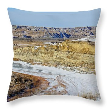 Badlands Frozen Throw Pillow