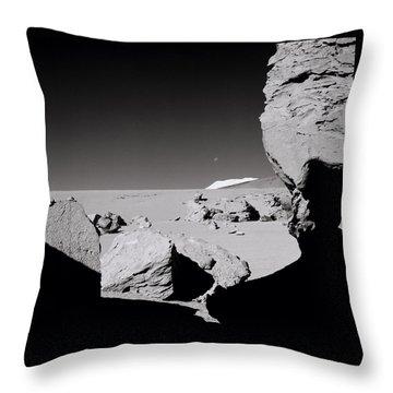 The Earth Throw Pillow by Shaun Higson