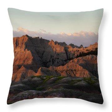 Badlands Sunrise Throw Pillow