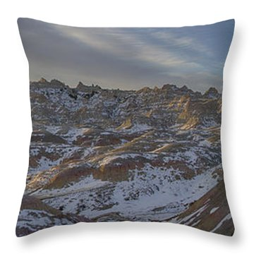 Badlands Sunrise Throw Pillow