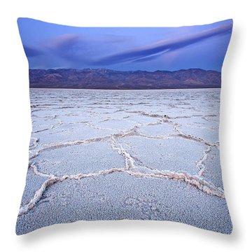 Badwater Dawn Throw Pillow