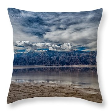 Badwater Reflection Throw Pillow