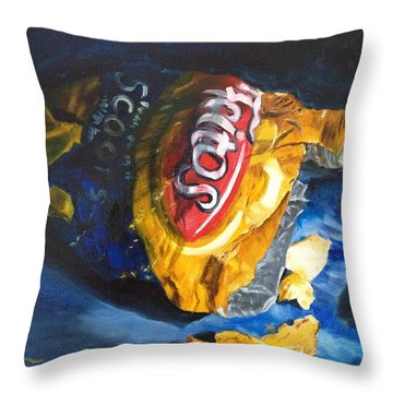 Bag Of Chips Throw Pillow by LaVonne Hand