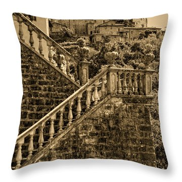 Throw Pillow featuring the photograph Bagnone 1 by Nigel Fletcher-Jones