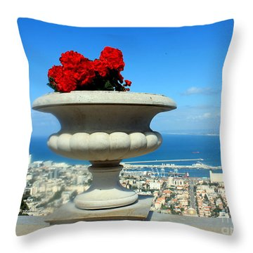Bahai's Garden - Haifa Throw Pillow