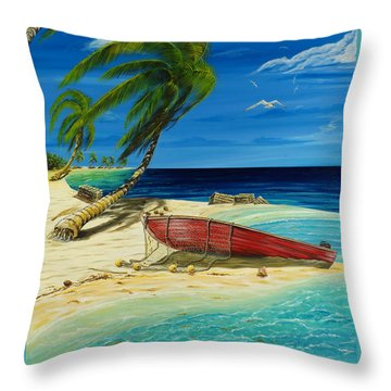 Bahama Beach Throw Pillow