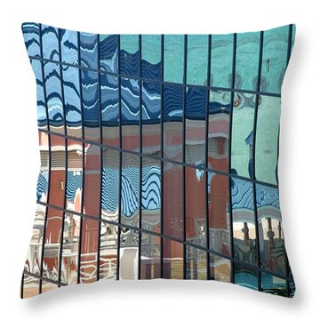 Bahamas Beach Pavilion Throw Pillow