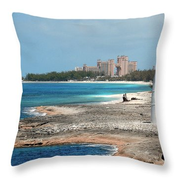 Bahamas Lighthouse Throw Pillow