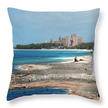 Bahamas Lighthouse Throw Pillow
