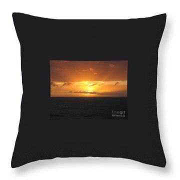 Bahamas Ocean Sunset Throw Pillow by John Telfer