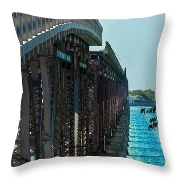 Bahia Honda Bridge Patterns Throw Pillow