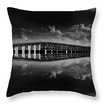 Bahia Honda Bridge Reflection Throw Pillow