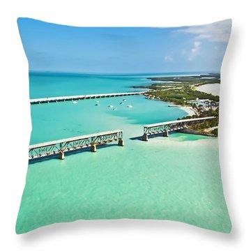 Bahia Honda Throw Pillow by Patrick M Lynch