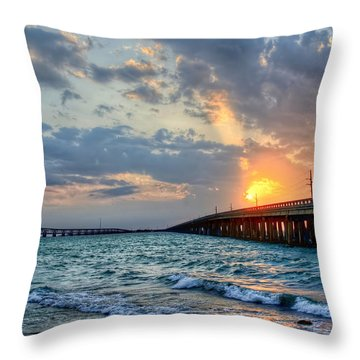 Bahia Honda Sunset Throw Pillow