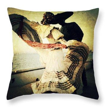'bailarines De Vallarta' By Jim Demetro Throw Pillow