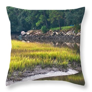 Bait Shop Bluff Throw Pillow
