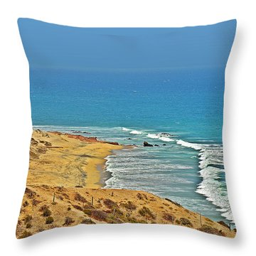 Throw Pillow featuring the photograph Baja California - Desert Meets Ocean by Christine Till