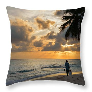 Bajan Fisherman Throw Pillow
