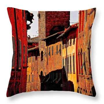 Baked In The Tuscan Sun Throw Pillow by Ira Shander