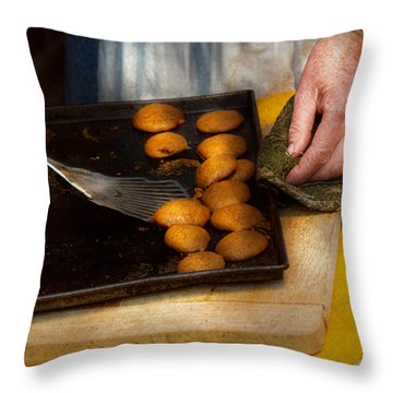 Baker - Food - Have Some Cookies Dear Throw Pillow by Mike Savad