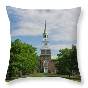 Baker Memorial Library Throw Pillow