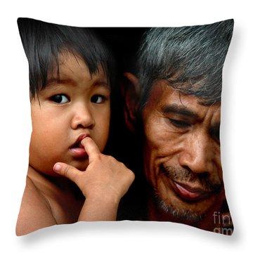 Baker's Daughter Throw Pillow