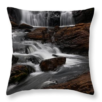 Bakers Fall IIi. Horton Plains National Park. Sri Lanka Throw Pillow by Jenny Rainbow