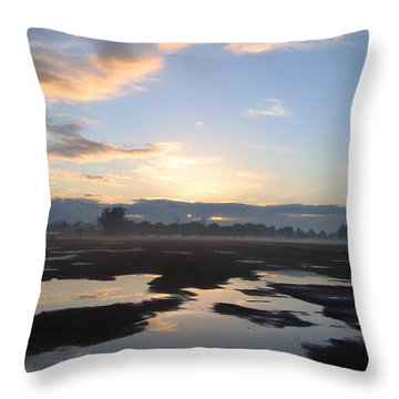 Throw Pillow featuring the photograph Bakersfield Sunrise by Meghan at FireBonnet Art