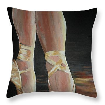 Balance Throw Pillow by Cherise Foster