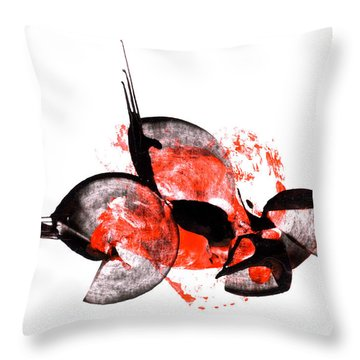 Balance - Modern Abstract Art Painting On Paper Throw Pillow
