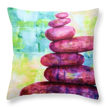 Throw Pillow featuring the painting Balance IIi by Susan Fisher