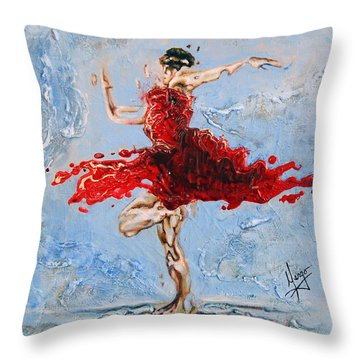 Balance Throw Pillow by Karina Llergo