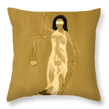 Balance 3 Throw Pillow by Lorna Maza