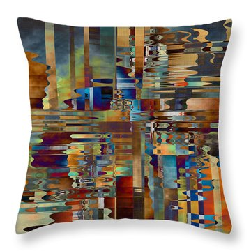 Throw Pillow featuring the digital art Balance Of Difference by Kim Redd