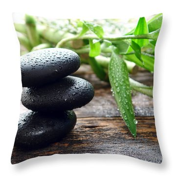 Balance  Throw Pillow by Olivier Le Queinec