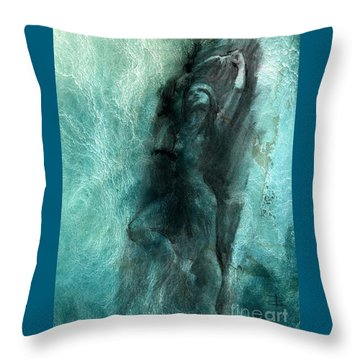 Throw Pillow featuring the drawing Balance With Mood Texture by Paul Davenport