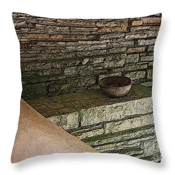 Balance Throw Pillow by Yvonne Wright