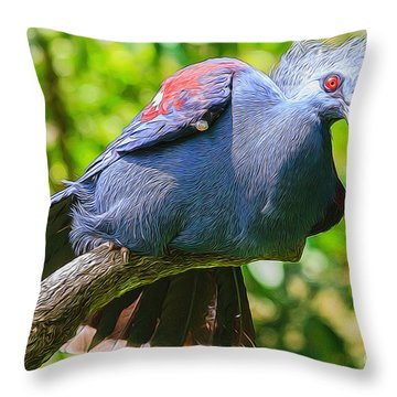 Balanced Pigeon Throw Pillow