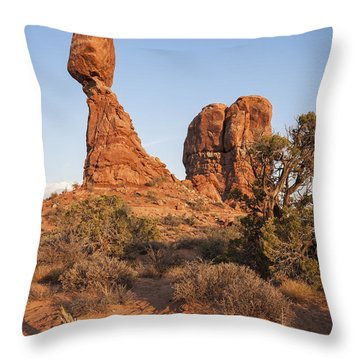 Throw Pillow featuring the photograph Balanced Rock At Arches National Park by Bryan Mullennix