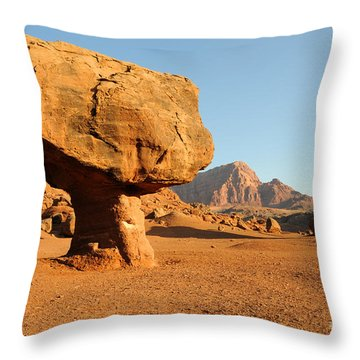 Balanced Rock Below Vermilion Cliffs Throw Pillow