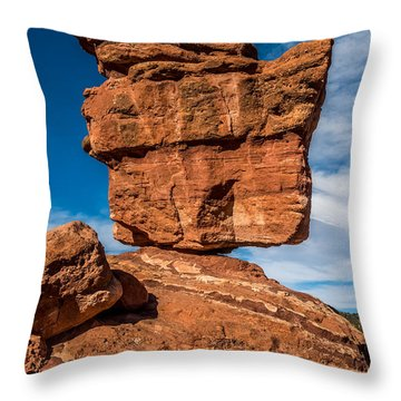 Balanced Rock Garden Of The Gods Throw Pillow by Paul Freidlund