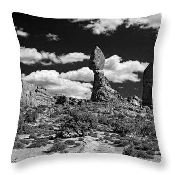 Balanced Rock Throw Pillow by Larry Carr