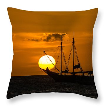 Balancing Act 2 Throw Pillow by Judy Wolinsky