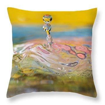 Balancing Act Throw Pillow by Lisa Knechtel
