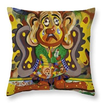 Balancing Clown Throw Pillow