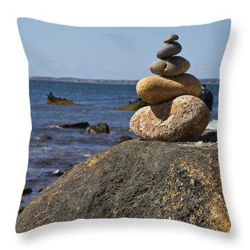 Balancing Rock 2 Throw Pillow by Rosie McCobb